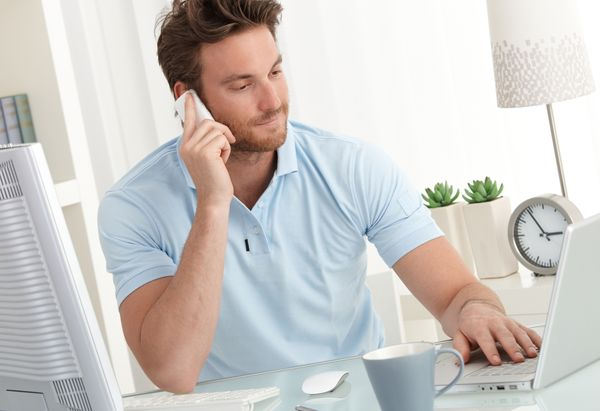 bigstock Casual businessman working at 48691688 result